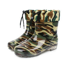 Mens Snow Rain Boots Short Waterproof Anti-skid Winter Rubber Sole Shoes New