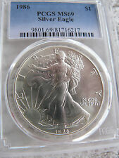 1986 Silver American Eagle PCGS MS-69 First Year of Series
