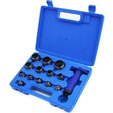 13 IN 1 HOLLOW PUNCH SET HEAVY DUTY GASKETS LEATHER RUBBER HOLE CASE NEW LARGE