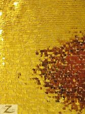 "DROP SEQUINS MESH FABRIC - Gold - 50"" WIDTH SOLD BY THE YARD SPARKLE/SHINY"