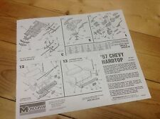 1957 Chevy Assembly Instructions, 1/24 Scale Monogram