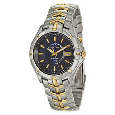 Seiko Men's SKA402 Kinetic 100M Two-Tone Blue Dial Date Watch