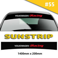 Sunstrip VW  Recing Recing Car Stickers Decal Graphics Windscreen Stripes