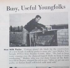 Original 1959 Future Farmer Ad Mickey Yarbrough of Prentiss County Mississippi