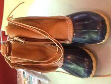 """ll bean duck boots tan/navy size 6Wwomen's 8"""""""
