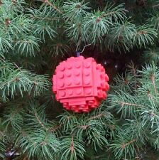 *! Genuine Lego Medium Red Christmas Tree Bauble Decoration !! Free Shipping!