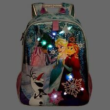 DISNEY STORE LIGHT UP FROZEN SCHOOL BAG BACKPACK BNWT ELSA ANNA