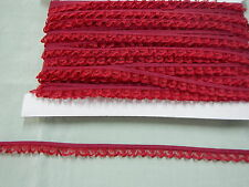 Gathered Narrow  Burgundy Lace  10 meters (134)