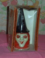 vintage Halloween GURLEY CANDLE witch head sealed in box
