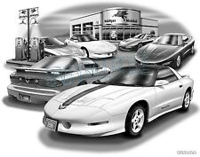 PONTIAC TRANS AM 1994 96,93,95,97 MUSCLE CAR ART PRINT #6515
