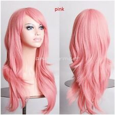Cosplay Wig Synthetic Hair Big Wave Costume Full Head Wigs Long Heat Resistant H