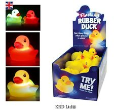 1x Flashing Bath Ducks Baby Toddler Toy Bathtime Colour Changing Rubber Duck