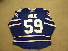 GAME USED/WORN KEITH AULIE 2010-11 TORONTO MAPLE LEAFS SET 3 BLUE JERSEY OILERS