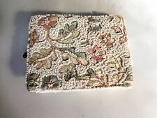 Vintage Intensely Embroidered & Beaded Jolles Pastel Folding Lady's Wallet