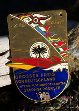 VINTAGE ENAMEL AUTOMOBILE CAR BADGE # ADAC INT. MOTOR BOAT REGATTA STARNBERG '55