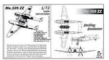 Unicraft Models 1/72 MESSERSCHMITT Me-109 ZZ ZWILLING Resin Conversion Kit