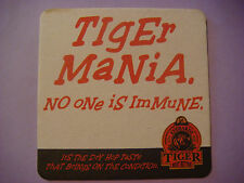 Beer Mat Bar Coaster: EVERARDS Brewery Tiger Bitter, Leicester, England ~ Immune