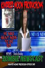 Zombie Newscast TV Haunted House Projection Video Effects DVD Halloween prop