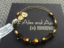 ALEX and ANI ASSORTED SWAROVSKI CRYSTAL Beaded Singles GOLD Bangle BRACELET ��