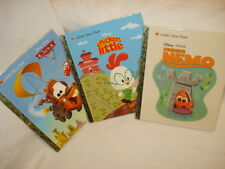 Three Little Golden Books - Chicken Little, Cars 2 and Finding Nemo