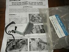 NOS Delta Retro Fit Service Kit for 33-050 Deluxe Sawbuck Saw p/n 422323140001