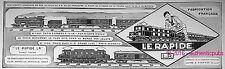 PUBLICITE LE RAPIDE LR TRAIN BLEU BIARRITZ EXPRESS COTE D'AZUR DE 1929 FRENCH AD
