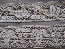 5 YDS GORGEOUS VINTAGE TAUPE SWISS COTTON CLUNY LACE TRIM.