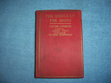 THE RIDDLE OF THE RHINE by Victor Lefebure/HC/Military/WWI 1914-18