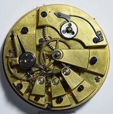 SWISS LEVER POCKET WATCH MOVEMENT  WITH LARGE JEWELS  43A