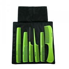 DENMAN Precision COMB Set x 6 Lime Green - with pouch