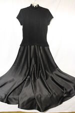 NWT LOEHMANN'S Evening Collection TADASHI Black Nylon Blend Dress, Sz 12-B46