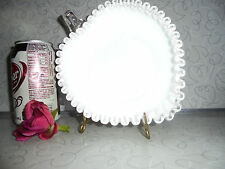 "Fenton SILVER Crest MILK GLASS ""Heart Relish"" Dish! USA /1956-1959!"