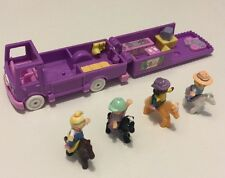 Vintage Polly Pocket Bluebird Stable on the Go with 4 Happy Horses & Dolls