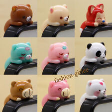Lovely Cartoon 3D Earphone Ear Cap Anti Dust Plug Cover 3.5mm For Cell Phone