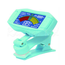 ENO ET-35 BLUE CLIP ON CHROMATIC ACOUSTIC ELECTRIC BASS GUITAR TUNER VIOLIN UKE