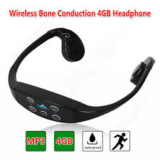 Wireless Bone Conduction 4GB Earphone Waterproof USB MP3 Player Fr Outdoor Sport