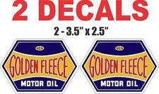 2 Golden Fleece Motor Oils Vinyl Decals