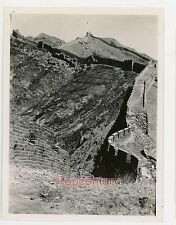 Pre WW2 1938 China Photograph Peking Great Wall High View Mountain Beijing Sharp