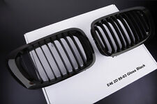 GLOSS BLACK KIDNEY GRILLS FOR BMW E46 3 SERIES 2 DOOR 99-03 COUPE CONVERTIBLE M3