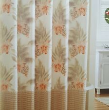 TROPICAL TOMMY BAHAMA WICKER FLORAL FABRIC SHOWER CURTAIN NEW!