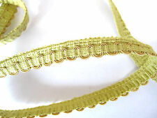 Lime green Yellow upholstery chair braid trimming 1.2cm w fabric trim PER METRE