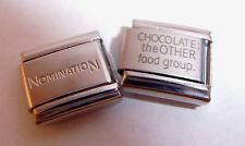 Chocolate el otro grupo de alimentos encanto italiano 9mm + 1x nominación clásico vínculo