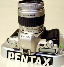 Pentax ZX-10 Professional 35mm SLR Film Camera with 28-90 zoom lens.