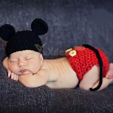 Newborn Baby Girl Boy Crochet Knit Beanie Costume Photo Photography Prop Cap Hat