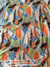 FLORAL  PRINT SHEER SMOOTH PURE SILK  DRESS FABRIC