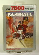 Vintage boxed Atari 7800 game Realsports Baseball Sealed New old stock cib