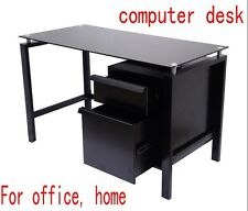 Office Computer Desk Table Home Study Student Drawer Storage Cabinet Black