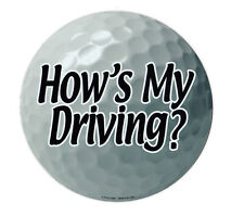 Magnetic Bumper Sticker - How's My Driving (Golf Ball) - Cars, Trucks, Lockers