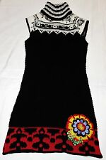 Desigual by Lacroix Size L Alpaca Wool Blend Mini Tunic Jumper Dress IMMACULATE