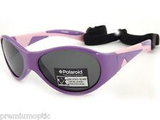 POLAROID Kids Girls Polarized Sunglasses Purple Rose  / Grey P0201 OQ9